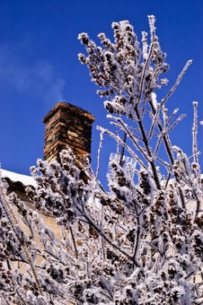 Winter Chimney Stock Image