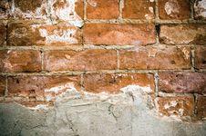 Free Peeled Stucco Brick Royalty Free Stock Photography - 16354027