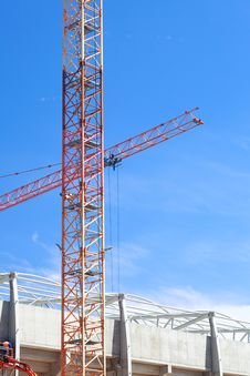 Free The Crane Elevating Against The Sky Stock Photo - 16354030