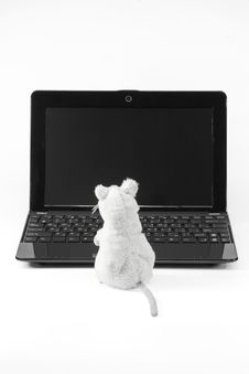 Free Laptop And Mouse Royalty Free Stock Photography - 16354487