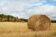 Free Haystack In The Field Stock Image - 16354531