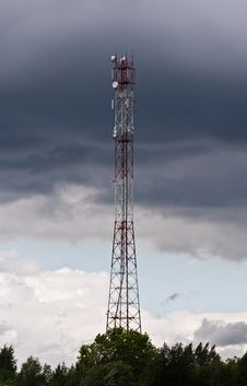 Free Telecommunications Tower In Kimry Stock Image - 16354921