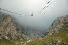 Free Cable-way In Alps. Stock Photos - 16355023