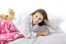 Free Young Woman In Bed Stock Photography - 16355222