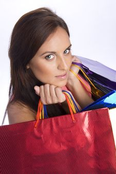 Free Pretty Young Woman With Purchases Stock Photos - 16355783
