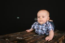 Free Cute Baby Boy Stock Photography - 16356282