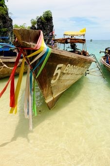 Free Thai Longtail Boat Royalty Free Stock Photo - 16356305