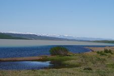 Lake Egilsstadir Iceland Stock Photo