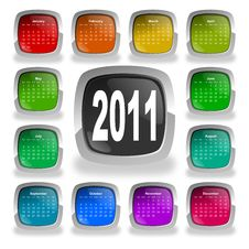Free Calendar For Year 2011 Royalty Free Stock Image - 16356496