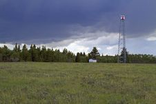 Free Fire Lookout Tower And Summer Storm Stock Photography - 16356872