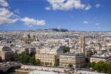Free Paris Skyline. Great Panoramic. Stock Images - 16356984