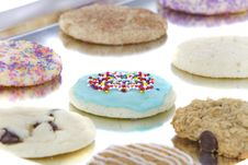 Homemade Cookies On Cooking Sheet Royalty Free Stock Photography