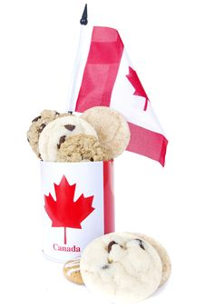 Free Homemade Cookies Canada Day Stock Photos - 16357153