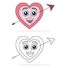 Free Heart Cartoon Stock Photography - 16357232