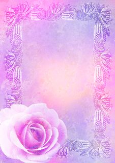Free Vintage Stylized Floral Frame Stock Photography - 16357352