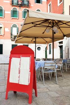 Free Blank Menu Board At Street Cafe Stock Photo - 16357460
