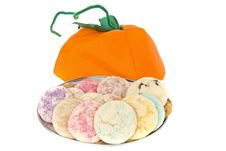 Homemade Cookies For Halloween Stock Photography