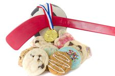 Free Homemade Cookies For Sporting Event Royalty Free Stock Images - 16357569