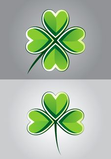 Free Clover Drawing Stock Photography - 16358592
