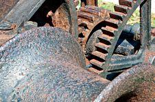 Closeup Of Old Rusty Hoist Stock Photography