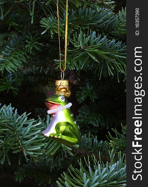 Christmas Frog Prince Tree Ornament