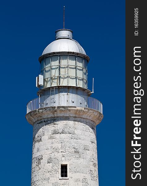 The lighthouse of El Morro in Havana, Cuba