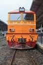 Free Closeup Of Yellow Diesel Train Locomotive Royalty Free Stock Image - 16366046