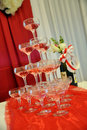 Free Champagne Glasses Tower Royalty Free Stock Photos - 16366068