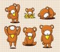 Free Cute Cartoon Bear Stock Images - 16366524