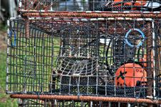 Lobster Fishing Trap Royalty Free Stock Images