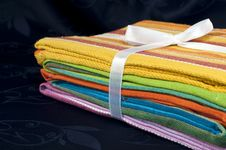 Colored Cloths Stock Photography