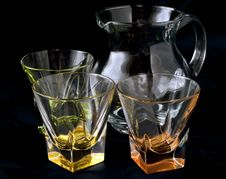 Free Pitcher And Glasses Royalty Free Stock Photo - 16360085