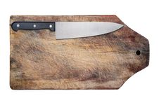Free Kitchen Knife On Wooden Table, Isolated. Stock Photos - 16360133