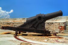 Free Old Rusty Cannon On A Castle Stock Photos - 16360543