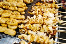 Free Many Of Grilled Squid In Fresh Market Stock Images - 16360614