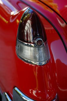 Shiny, Red Classic Car Stock Photography
