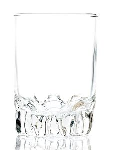 Free Empty Glass On A White Background Royalty Free Stock Images - 16361459