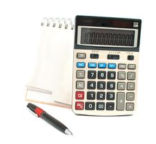 Free Calculator, A Pen, A Diary Royalty Free Stock Images - 16361499