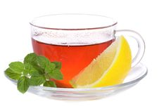 Free Tea With Mint And Lemon Stock Image - 16361881