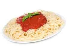 Free Pasta With Tomato Sauce Stock Image - 16361951