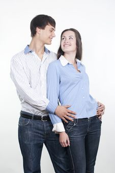 Free Beautiful Young Happy Couple Royalty Free Stock Images - 16362189