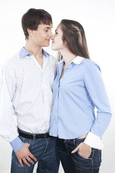 Free Beautiful Young Happy Couple Royalty Free Stock Image - 16362336