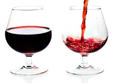 Free Red Wine Being Served In Transparent Glasses Stock Photo - 16362450