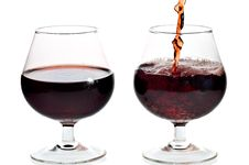 Free Red Wine Being Served In Transparent Glasses Royalty Free Stock Photo - 16362555