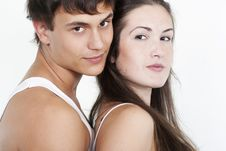 Free Beautiful Young Happy Couple Royalty Free Stock Image - 16362616