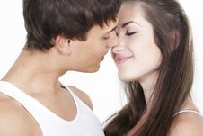 Free Beautiful Young Kissing Couple Royalty Free Stock Photos - 16362638