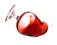 Free Red Wine Spilling From A Transparent Glass Stock Photography - 16362792