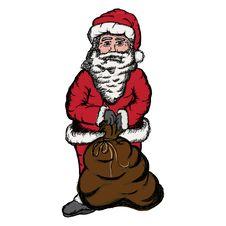 Free Santa Sack Sketch Royalty Free Stock Photos - 16362808