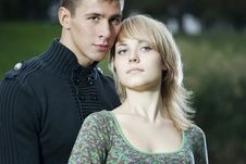 Free Young Couple In The Park Royalty Free Stock Photography - 16363087