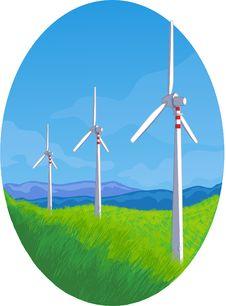 Free Wind Turbines Royalty Free Stock Image - 16363396
